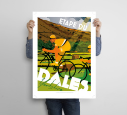 Yorkshire cycling poster
