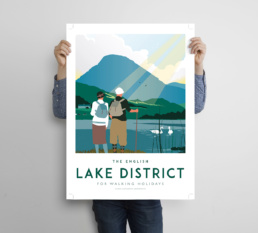 Lake District poster